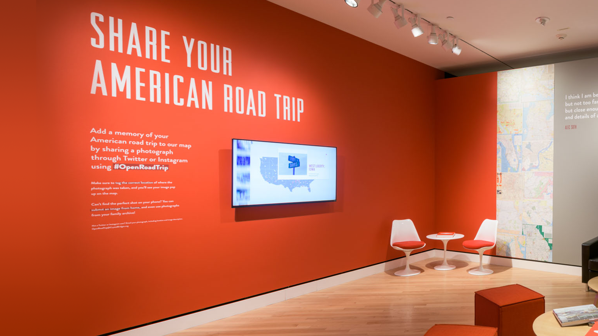 Crystal Bridges exhibition website for The Open Road